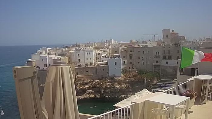 HD Live Webcam Webcam Polignano - View from Malù b&b