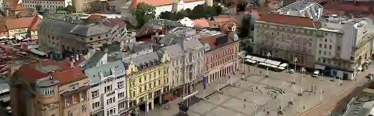 Livecam Zagreb - Bana Jelačića square panorama
