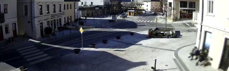 Livecam Main square in Bovec