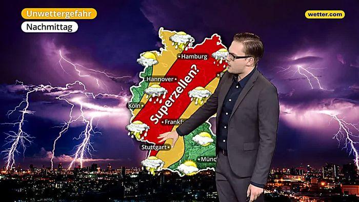 Höchste Warnstufe! Gefahr von Tornados und Superzellen!