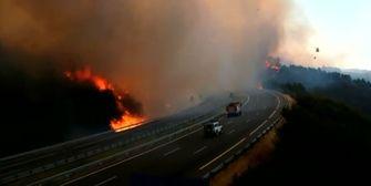 Waldbrände in Spanien: Autobahn gesperrt