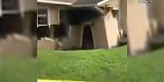 Massive Senkgrube: Erde verschluckt Haus
