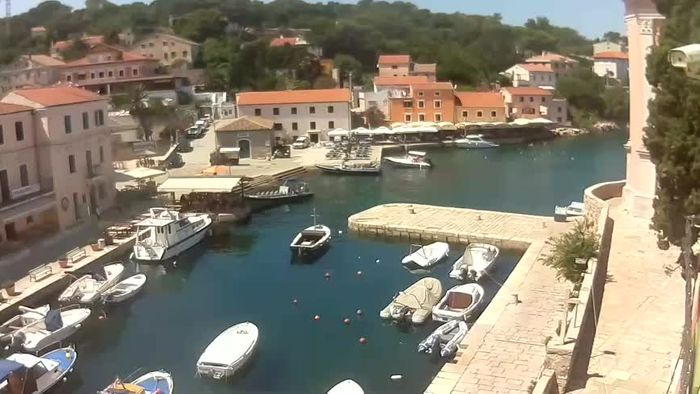 HD Live Webcam Webcam Live - The harbor and the bay of Veli Lošinj