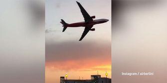 Zum Abschied: Air-Berlin-Pilot mit gewagtem Manöver