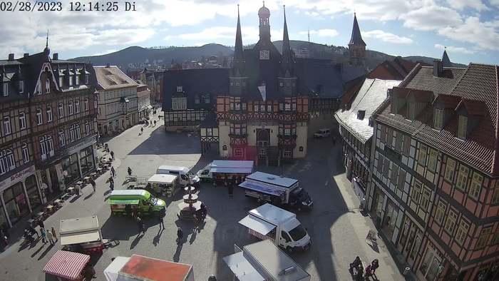 HD Live Webcam Wernigerode - Marktplatz - Rathaus