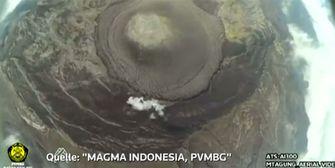 Nur Verschnaufpause: Erkaltete Lava am Mount Agung auf Bali