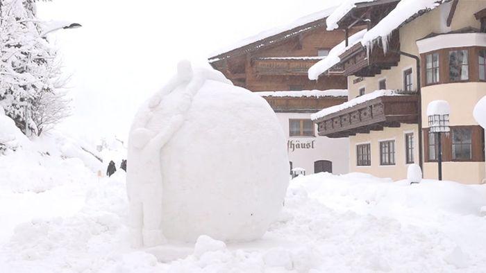 Wenn aus Schnee Kunst wird