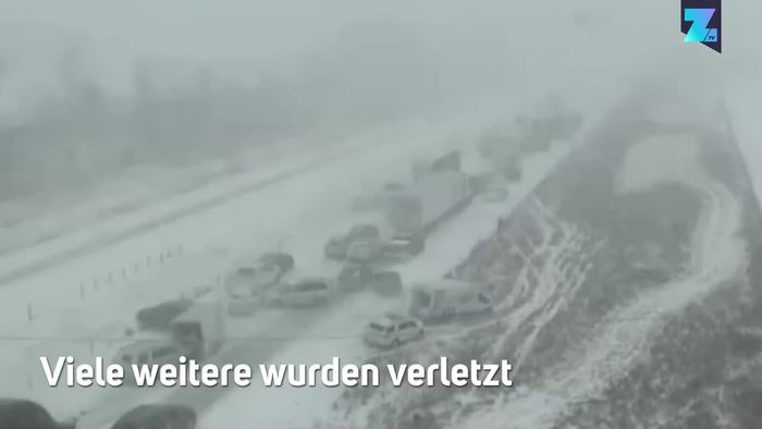 Iowa: Heftiger Schneefall löst fatalen Massencrash aus