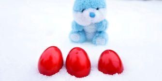 Frühling nicht in Sicht! Ostereiersuche in Schnee und Eis?