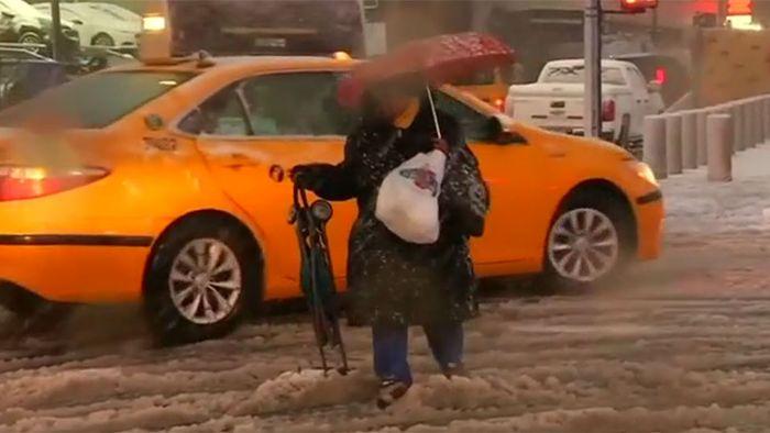 Wintersturm legt Teile von New York lahm