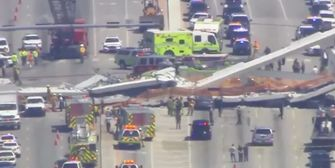 Brücke in Miami stürzt ein und begräbt Autos unter sich