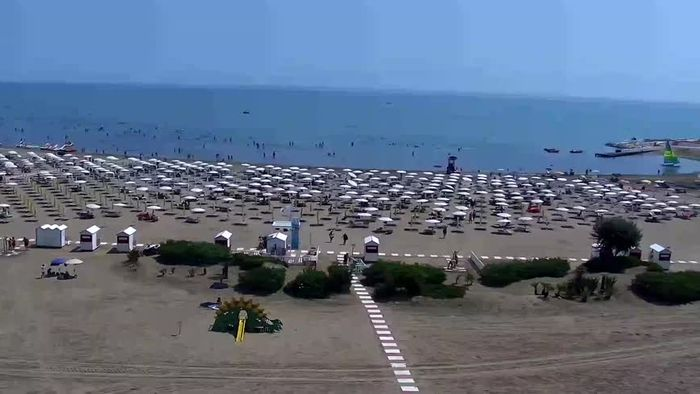 HD Live Webcam Caorle webcam - Levante beach - Hotel Stellamare