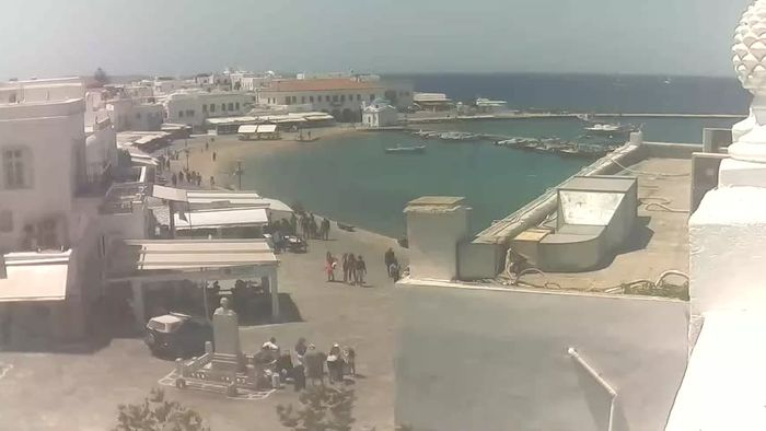 HD Live Webcam Mykonos - Waterfront and old port
