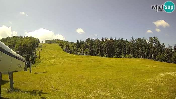HD Live Webcam Ski resort Pohorje Maribor - Station Pisker