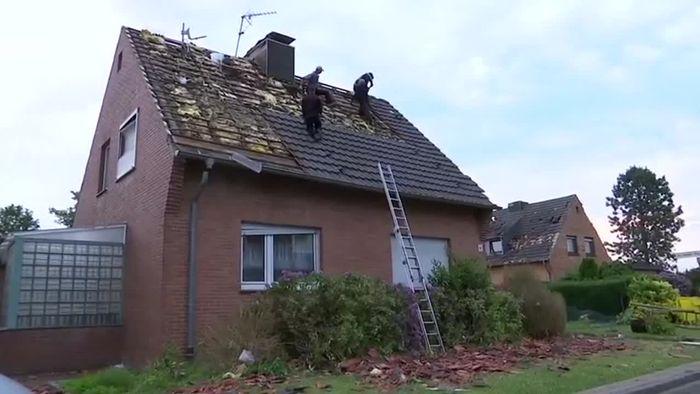 Tornado richtet bei Viersen schwere Verwüstungen an