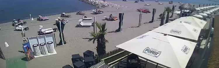"""Livecam Webcam """"Bagni capannina""""  - Isola verde - Chioggia"""