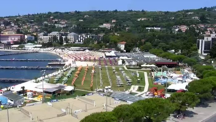HD Live Webcam Portorož - Panorama