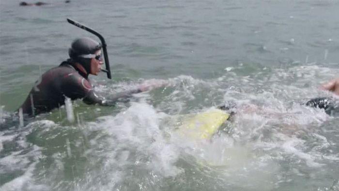 Kampf gegen Plastikmüll: Franzose durchschwimmt Pazifik