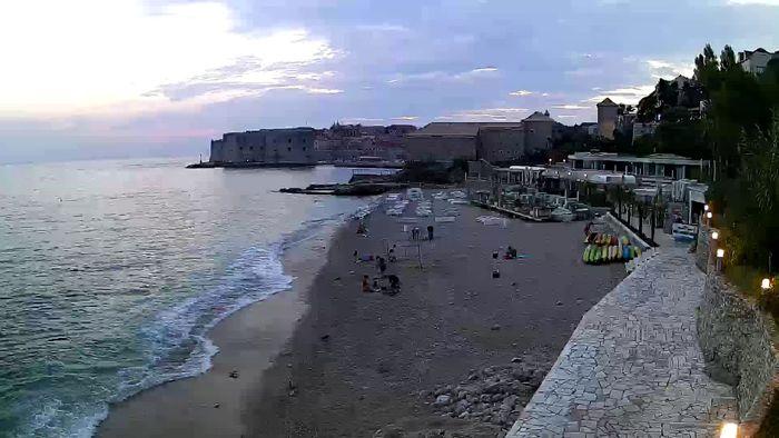 HD Live Webcam Dubrovnik Strandwetter - Banje beach
