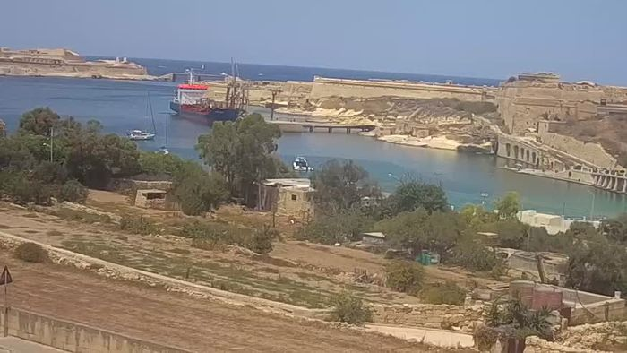 HD Live Webcam Rinella Kalkara webcam Malta - entrance to the Grand Harbour, Valletta