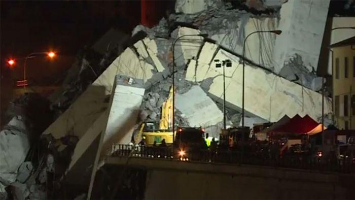 Brückeneinsturz in Genua: Rettungsarbeiten dauern an