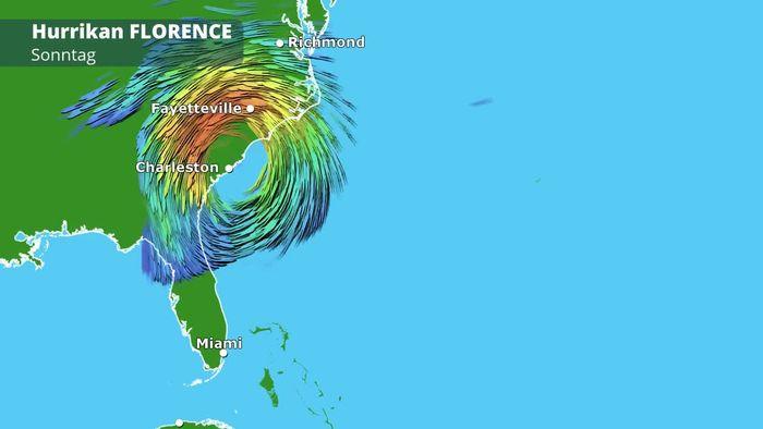 Zugbahn von Hurrikan FLORENCE