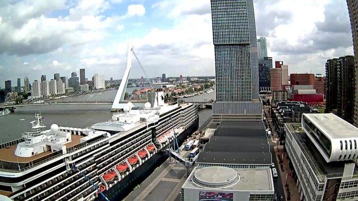 HD Live Webcam Rotterdam Erasmus Bridge