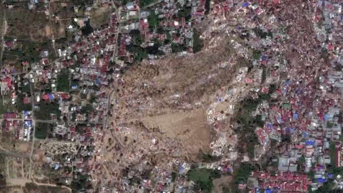 Vorher - Nachher: Satellitenbilder zeigen Zerstörungen durch Tsunami in Indonesien