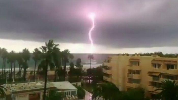 Im Oktober kommt es im Mittelmeerraum häufig zu schweren Unwettern.
