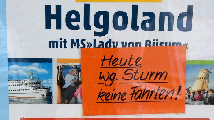 Sturmtief SIGLINDE trifft Deutschland.