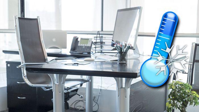 Ist es im Büro zu kalt, muss der Arbeitgeber handeln.