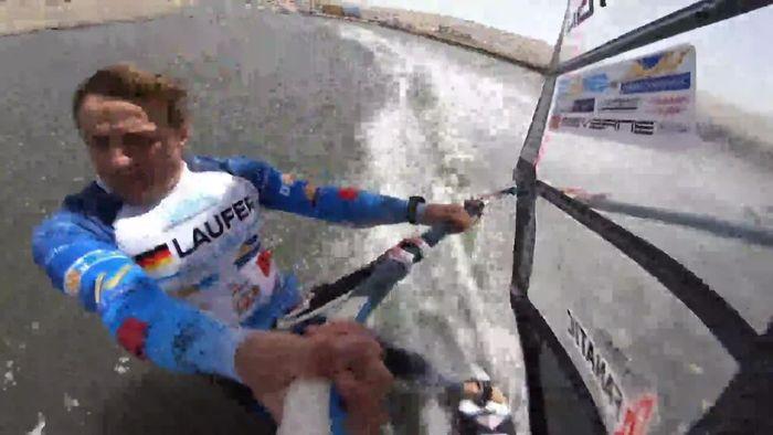Windsurfer Andy Laufer auf der Jagd nach dem Weltrekord im Windsurfen