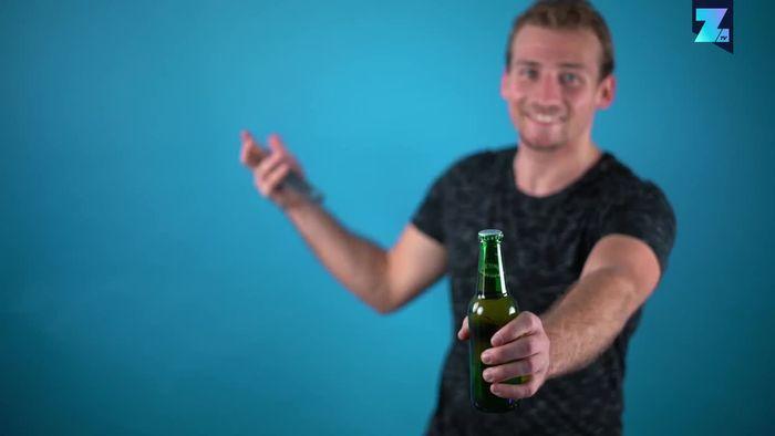 Drei coole Wege, eine Bierflasche zu öffnen