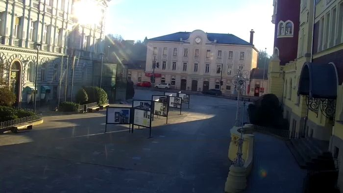 HD Live Webcam Webcam Celje - Krekov trg from Hotel Evropa