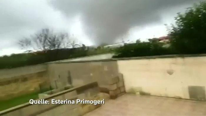 Tornados suchen Süditalien heim