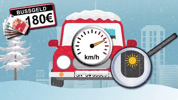 Im Winter drohen gleich mehrere Geldstrafen für Autofahrer.