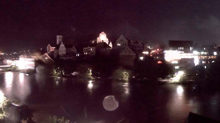 HD Live Webcam Frohnleiten - Volkshaus - Altstadt und Murbrücke