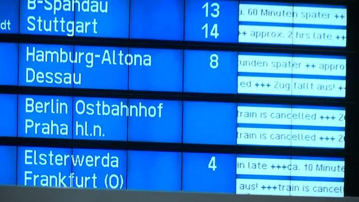 Warnstreiks: Deutsche Bahn stellt Fernverkehr komplett ein