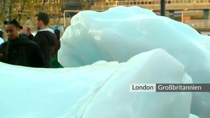 Grönland-Eis schmilzt an der Themse