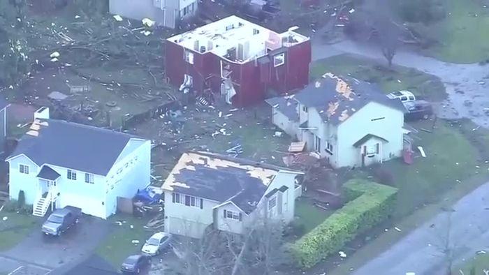 Ungewöhnlich: Tornado wütet bei Seattle