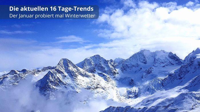 16-Tage-Trend: Der Januar probiert mal Winterwetter