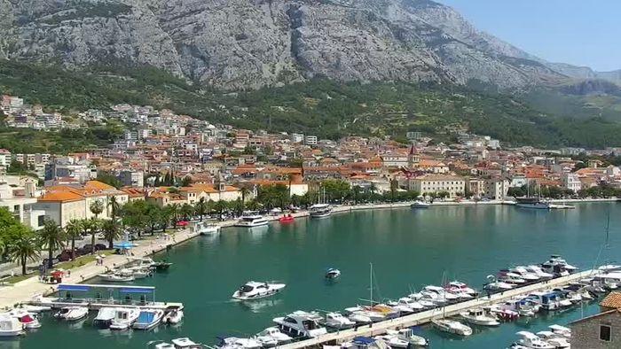 HD Live Webcam Makarska - Hafen - Riva