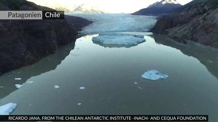 Grauer Gletscher schrumpft: Eisabbruch besorgt Wissenschaftler