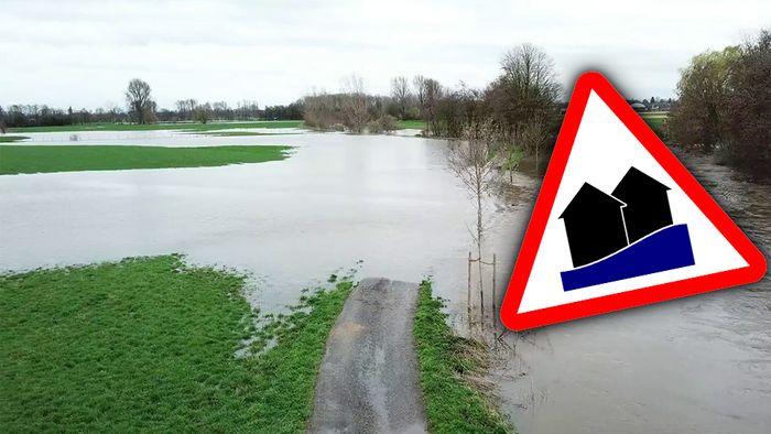 Am Wochenende kam es unter anderem an der Rur zu Überschwemmungen.