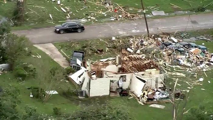 Kapitale Zerstörungen: Tornado macht in Texas Kleinholz