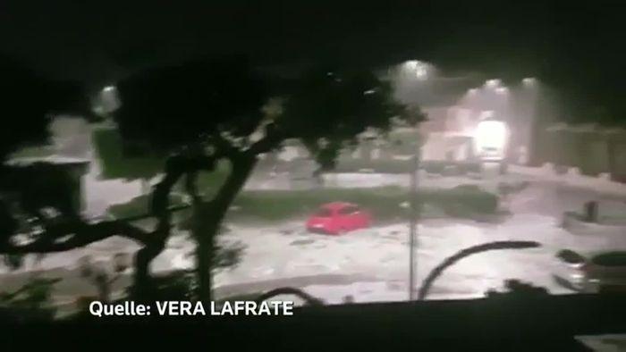 Italien: Hagelunwetter sucht Kleinstadt heim