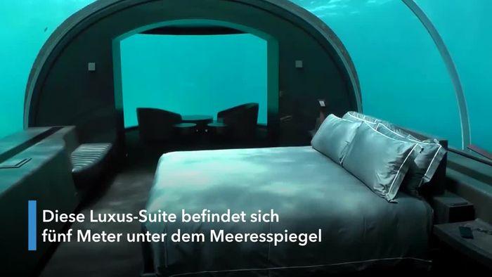 Nicht ganz billig: Schlafen unter dem Ozean
