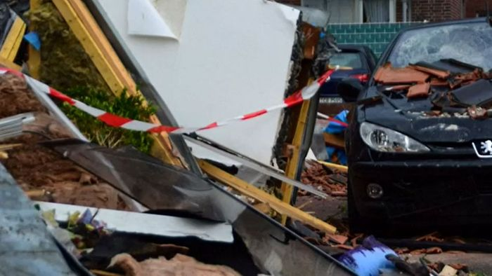 Bilder der Zerstörung: Tornado trifft Bocholt