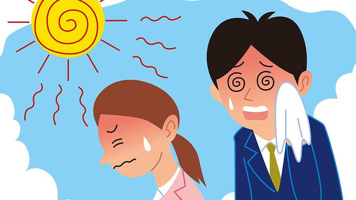 Bei hohen Temperaturen fühlen wir uns oft schlapp und müde.