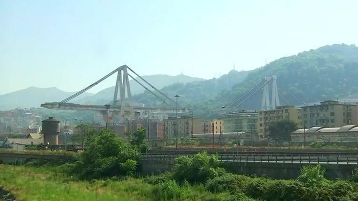 Unglücksbrücke von Genua gesprengt